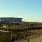 ... und ab hier war dann Schluss, 2,5 Stunden Stau im Bereich vom Stadion der TSG Hoffenheim