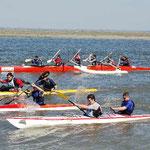 Kayak de mer départ de course