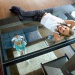 plancher de verre