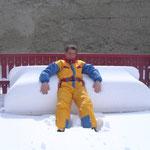 Le solarium sous la neige