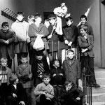 1er rang g à dr:Alain BRUGNON, Norbert MELCK, Philippe BRUGNON, Pascal LEFORT, 2ème rang: ? , Hervé LECLERE, Alix DRAVIGNY, Claude LEFORT, philippe BONET, 3ème rang: Xavier PRIMAULT, Eric DRAVIGNY, Francis CARON, Bertrand PRIMAULT, Régis DRAVIGNY, Jean Pi