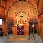 Stabkirche in Hahnenklee von innen