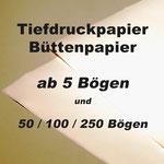Tiefdruckpapier, Büttenpapier