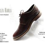zapato marron de cuero