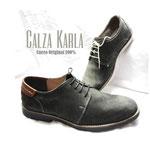 zapatos para costa con pasador y cuero calza karla