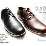 calzado negro cafe de pasador