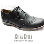 zapato oxfort de pasador negro