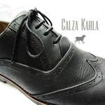 zapato oxford de pasador negro
