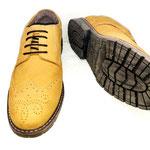 zapatos oxford hombre amarillo