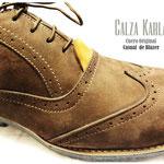 calzado oxford de pasador