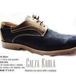 zapato azul noche con pasador