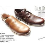 zapatos de cuero con y sin pasador