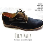calzado de hombre azul cafe con pasador