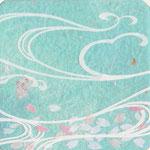 フリー素材・和風イラスト・貼り絵・桜・花の色は