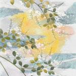 フリー素材・和風イラスト・貼り絵・萩と月