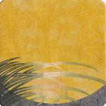 フリー素材・和風イラスト・貼り絵・月と秋草