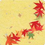 フリー素材・和風イラスト・貼り絵・紅葉の色