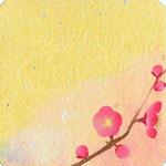フリー素材・和風イラスト・貼り絵・紅梅