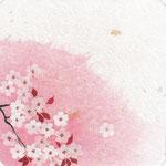 フリー素材・和風イラスト・貼り絵・山桜