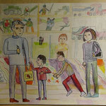 Peace is my friendly family and a lot of toys. Жданов Артур, 8 лет, 2 класс, лицей №67