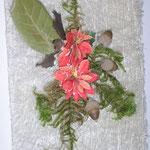 Otra postal, esta vez con hojas y bayas naturales.