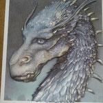 Mi hijo me pidió un cuadro de su libro preferido: Eragon
