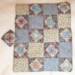 Cubrecama patchwork cosido a mano 25€