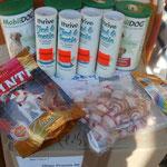 Leckerchen, Kauknochen und Futter-Ergänzungsmittel