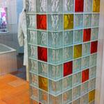 Beispiel Duschwand mit Glasbausteinen