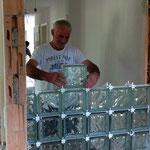 Zwischenwand mit Glasbausteinen