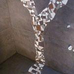 Beispiel Dusche mit Mosaikeinsatz