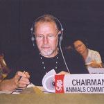 T. Althaus in seiner Funktion als Präsident des CITES Animals Committees. (Sehen Sie dazu auch die Seite Artenschutz).
