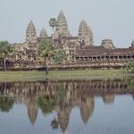 Der berühmte Tempel Angkor Wat in Kambodscha. Mehr Bilder in der Galerie Kambodscha.