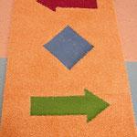 Intarsien für einen Kinderspielteppich