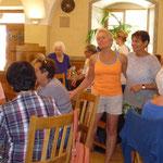 Besuch vom KV Kelheim, Beiratsmitglied Frau Gisela Donauer (links)