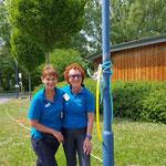 ein starkes Team, 1. Vorsitzende Evelin Hensel und 2. Vorsitzende Gisela Prüll, v.l.