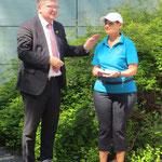 Schirmherr Oberbürgermeister Michael Cerny mit Evelin Hensel, 1. Vorsitzende KV Amberg