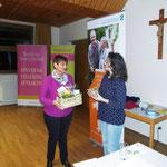 Dank an Frau Baum von Evelin Hensel, 1. Vorsitzende des Kneippvereins Amberg e.V.