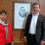 Empfang beim Bürgermeister, links Evelin Hensel 1. Vorsitzende des KV Amberg