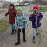 Auf dem Weg durch die Winterlandschaft