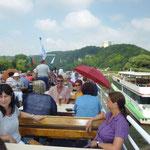 Auf dem Schiff zum Kloster Weltenburg