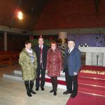 Gruppenbild mit Bürgermeister und Pfarrer