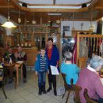 Evelin Hensel mit unserem jüngsten Gast