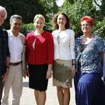 Hartmut Kupfer, Ali Özsoy, Dr. Franziska Giffey, Dr. Katarina Barley, Martina Valjevcic und Falko Liecke (v. l. n. r.)