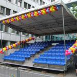 Bühnendeko Karneval der Kulturen, luftgefüllt
