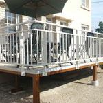 Terrasse surélevée en Composite Bois Twinson - Garde-corps aluminium