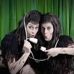 Isabel Trinkaus und ich als Affe