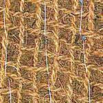 Détail de la natte coco renforcée par un géofilet