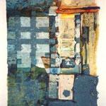 """""""MONDSCHEINNACHT"""", MISCHTECHNIK, 0,37 x 0,53m, 1998"""