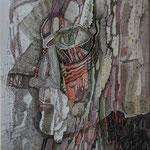 """""""AUGEN- MENSCH"""", FINELINER, AQUARELL AUF PAPIER, 0,25x 0,35m, 2012"""